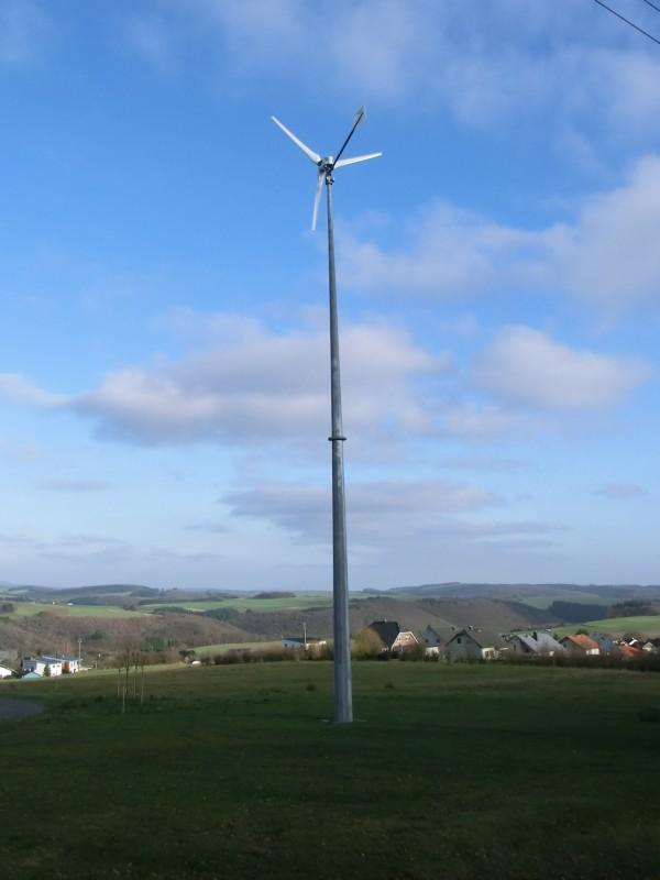 Horizontale Windkraftanlage