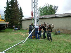 Rotor der Kleinwindanlage bereit zur Installation