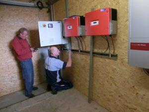 Schaltschrank und Wechselrichter der Kleinwindkraftanlage