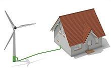 Private Windkraftanlage für Eigenheim
