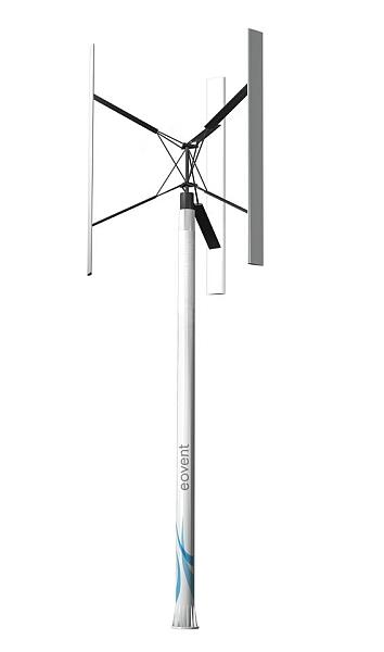 Vertikale Kleinwindanlagen von Eovent
