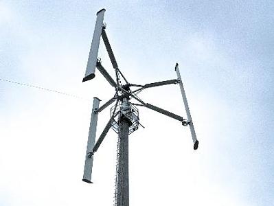 Prototyp der vertikalen Windkraftanlage