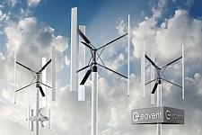 Vertikale Kleinwindanlagen von EoventVertikale Kleinwindanlagen von Eovent