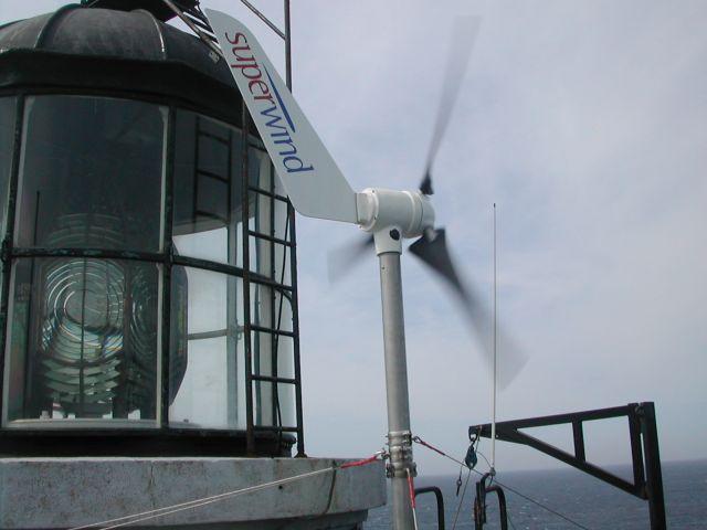 Kleinwindanlage - Autarke Stromversorgung für Leuchtfeuer