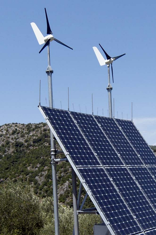PV-Wind-Hybridanlage