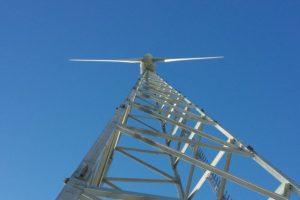 Gitter-Mast für kleine Windkraftanlagen