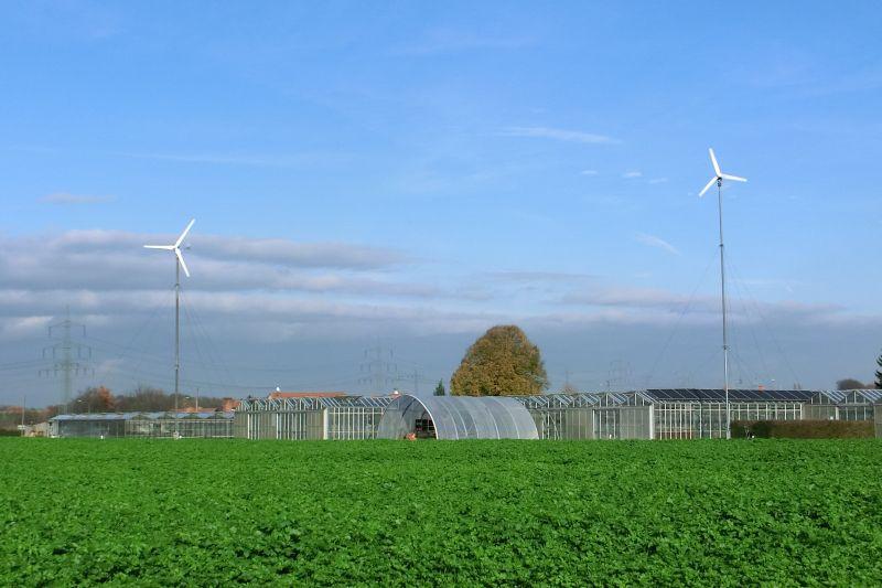 Kleine Windraftanlagen - Gartenbaubetrieb
