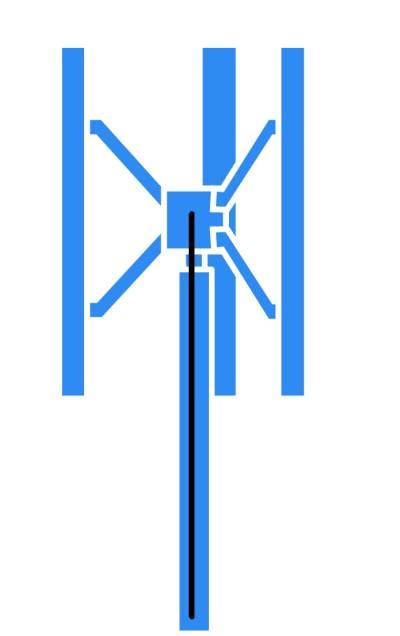 Windanlage mit vertikaler Rotorachse