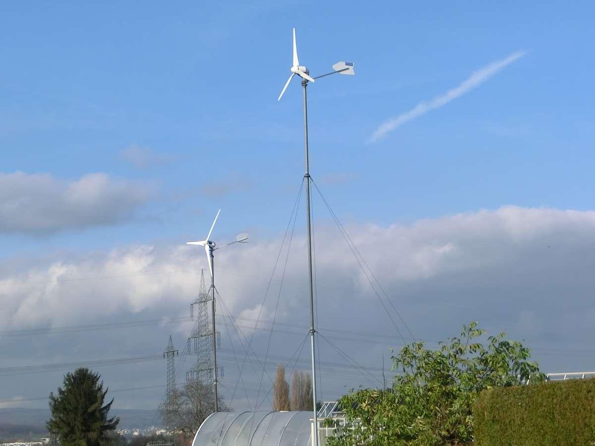 Kleine Windanlage - Gartenbau - Stadt-Rand