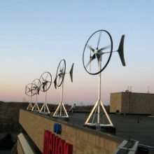 Mikro-Windanlagen auf Haus-Dach