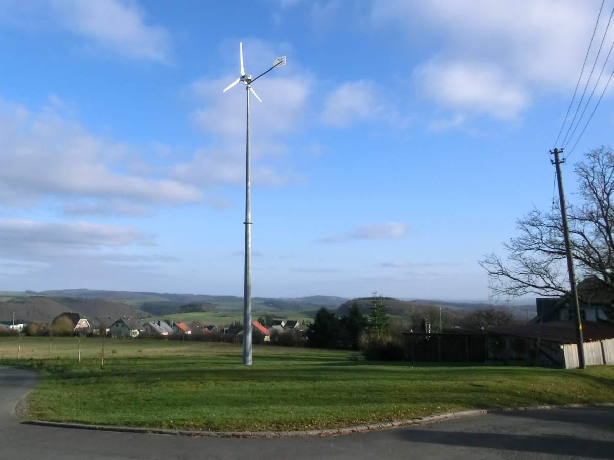 Private Kleinwindanlage im Mittelgebirge