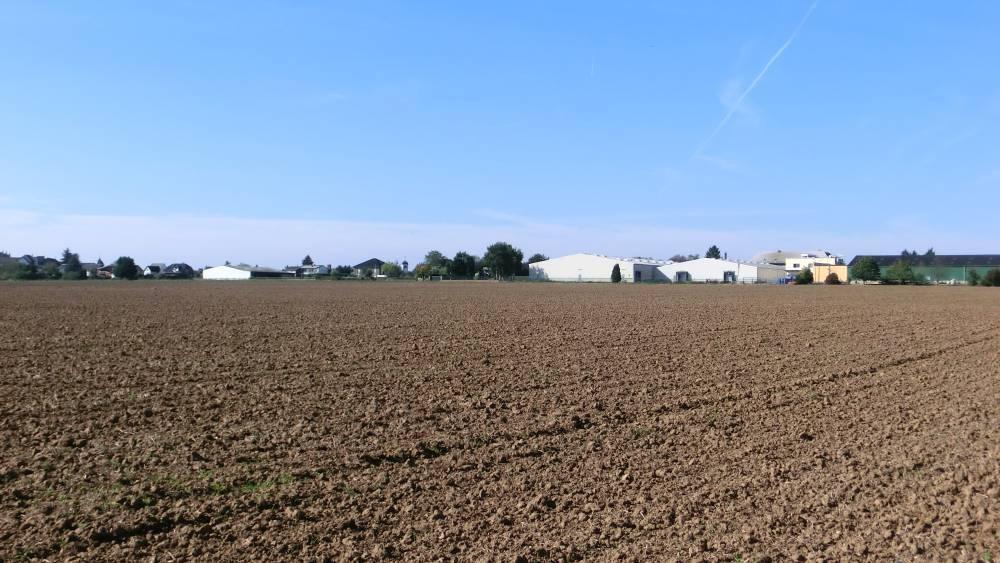 Randlage eines Gewerbegebiets im Rheinland