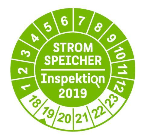 Stromspeicher-Inspektion 2019