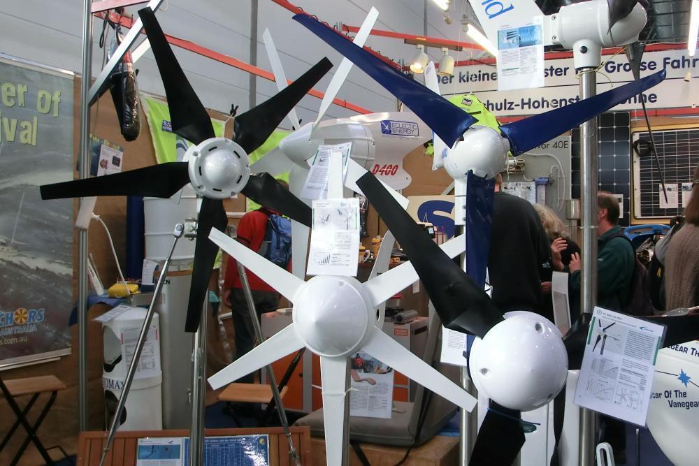 Mini-Windanlagen für Garten und Segelboot