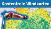 Windkarten für Windkraftanlagen