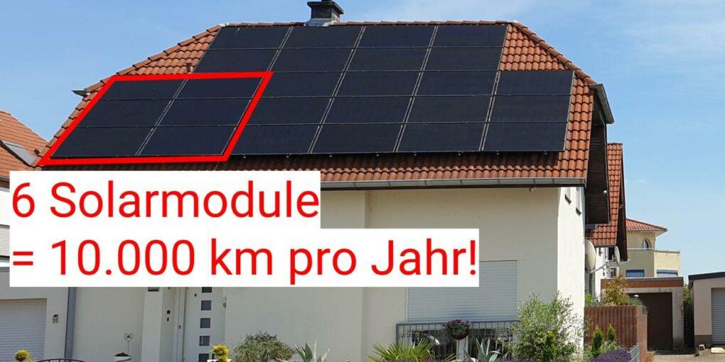Elektroauto mit Solaranlage